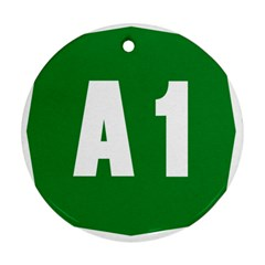 Autostrada A1 Round Ornament (Two Sides)