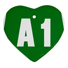 Autostrada A1 Heart Ornament (Two Sides)