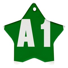Autostrada A1 Star Ornament (two Sides)