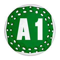 Autostrada A1 Round Filigree Ornament (Two Sides)