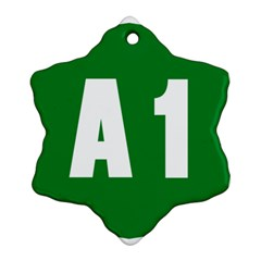 Autostrada A1 Snowflake Ornament (Two Sides)