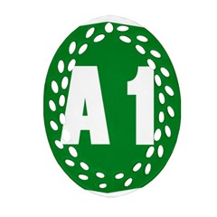 Autostrada A1 Ornament (Oval Filigree)