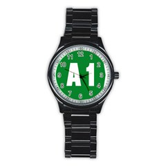 Autostrada A1 Stainless Steel Round Watch