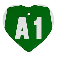 Autostrada A1 Ornament (Heart)