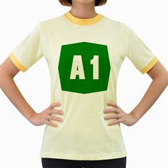 Autostrada A1 Women s Fitted Ringer T-Shirts