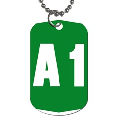 Autostrada A1 Dog Tag (Two Sides)