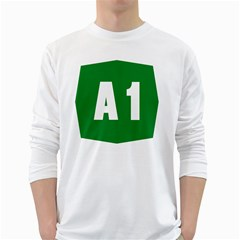 Autostrada A1 White Long Sleeve T-Shirts