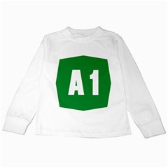 Autostrada A1 Kids Long Sleeve T-Shirts