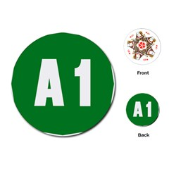 Autostrada A1 Playing Cards (Round)