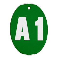 Autostrada A1 Oval Ornament (Two Sides)