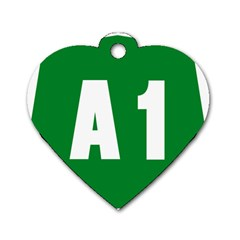 Autostrada A1 Dog Tag Heart (Two Sides)