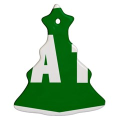Autostrada A1 Christmas Tree Ornament (Two Sides)