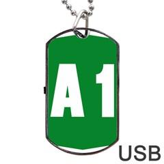 Autostrada A1 Dog Tag USB Flash (One Side)