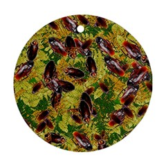 Cockroaches Round Ornament (two Sides)