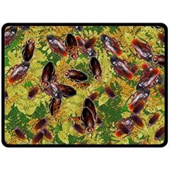 Cockroaches Fleece Blanket (large)