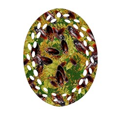Cockroaches Oval Filigree Ornament (Two Sides)
