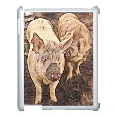 Happy Pigs Apple iPad 3/4 Case (White)