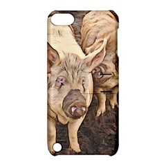 Happy Pigs Apple iPod Touch 5 Hardshell Case with Stand