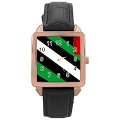 Boi Rose Gold Leather Watch