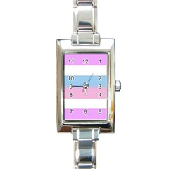Bigender Rectangle Italian Charm Watch