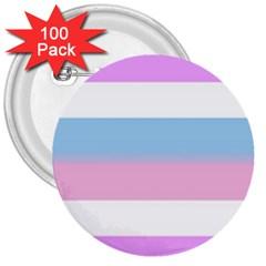 Bigender 3  Buttons (100 pack)