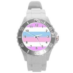 Bigender Round Plastic Sport Watch (L)