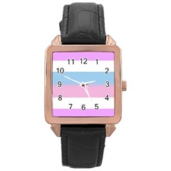 Bigender Rose Gold Leather Watch