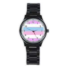 Bigender Stainless Steel Round Watch