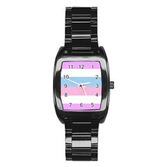 Bigender Stainless Steel Barrel Watch