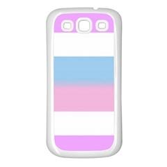 Bigender Samsung Galaxy S3 Back Case (White)