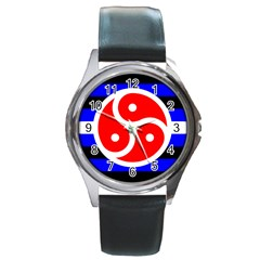 Bdsm Rights Round Metal Watch