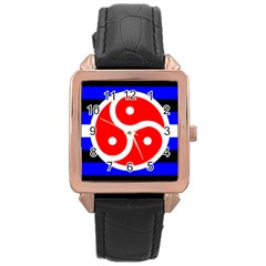 Bdsm Rights Rose Gold Leather Watch