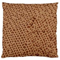 Giraffe Pattern Animal Print Large Cushion Case (two Sides)