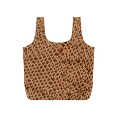Giraffe Pattern Animal Print Full Print Recycle Bags (S)
