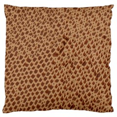 Giraffe Pattern Animal Print Standard Flano Cushion Case (Two Sides)