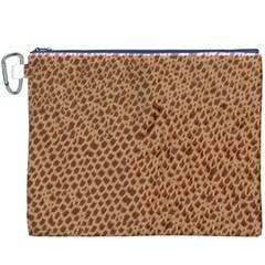 Giraffe Pattern Animal Print Canvas Cosmetic Bag (xxxl)