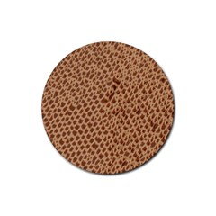 Giraffe pattern animal print  Rubber Coaster (Round)