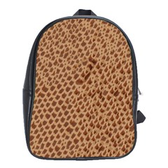 Giraffe Pattern Animal Print  School Bags (xl)