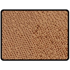 Giraffe pattern animal print  Double Sided Fleece Blanket (Large)