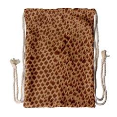 Giraffe Pattern Animal Print  Drawstring Bag (large)