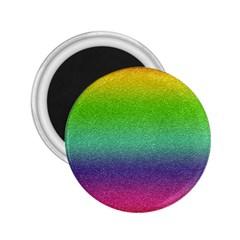 Metallic Rainbow Glitter Texture 2.25  Magnets