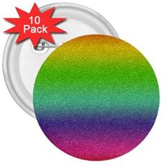 Metallic Rainbow Glitter Texture 3  Buttons (10 pack)