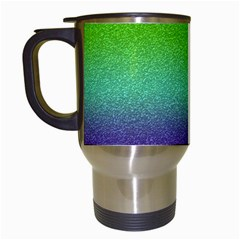 Metallic Rainbow Glitter Texture Travel Mugs (white)