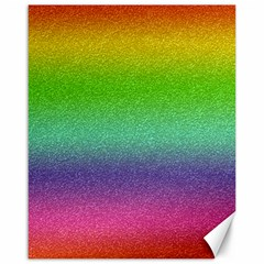 Metallic Rainbow Glitter Texture Canvas 16  x 20