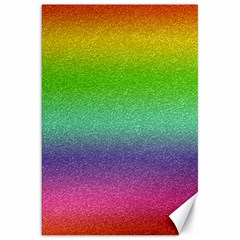 Metallic Rainbow Glitter Texture Canvas 20  x 30