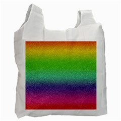 Metallic Rainbow Glitter Texture Recycle Bag (two Side)