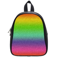 Metallic Rainbow Glitter Texture School Bags (small)