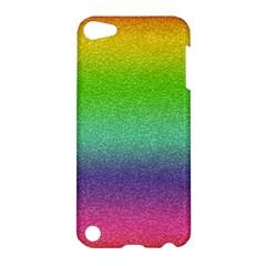 Metallic Rainbow Glitter Texture Apple Ipod Touch 5 Hardshell Case