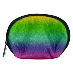 Metallic Rainbow Glitter Texture Accessory Pouches (medium)