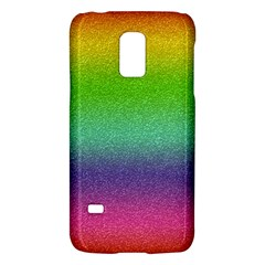 Metallic Rainbow Glitter Texture Galaxy S5 Mini